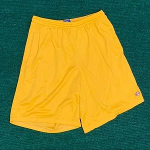 Vintage 90s Champion yellow shorts